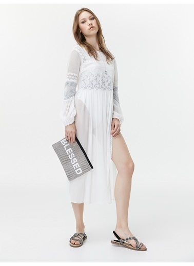 Twist Elbise Beyaz